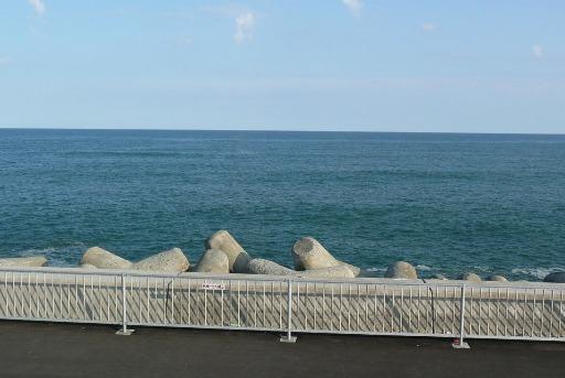 駐車場から太平洋を望む