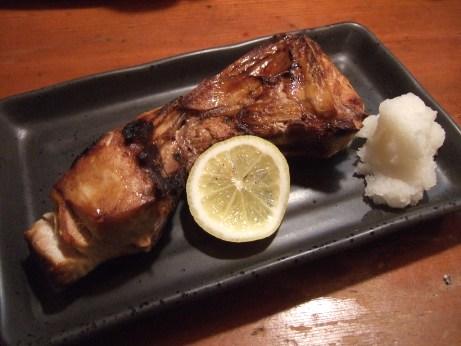 ブリカマ塩焼