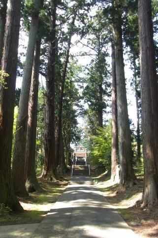 拝殿への参道