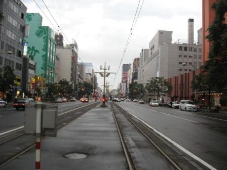 すすきの・市電線路