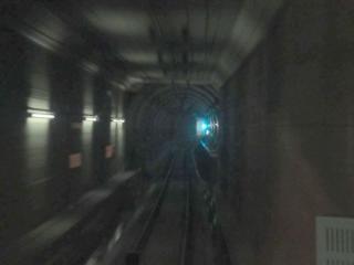 台場第1トンネル(ケーソン)と台場第2トンネル(シールド)の接続部分。
