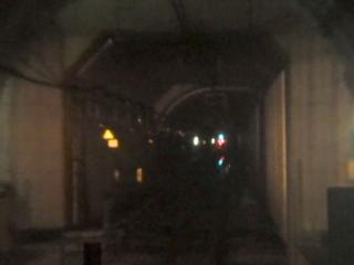 13号地立坑と海底トンネル(台場第4トンネル)の接続部分。