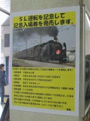 ホーム下の柱に掲示されていたポスター各種