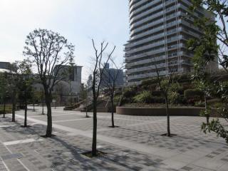 品川シーサイド駅南側の住宅区画。