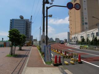 架け替え工事中の東品川橋(天王洲アイル側)