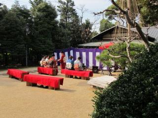 清月庵では訪問時、茶会が開かれていた。