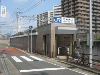 東海道線の反対側にある出口3イ。看板には「竹島東口」としか書かれていない。