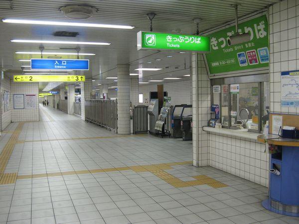 御幣島駅地下1階の改札口