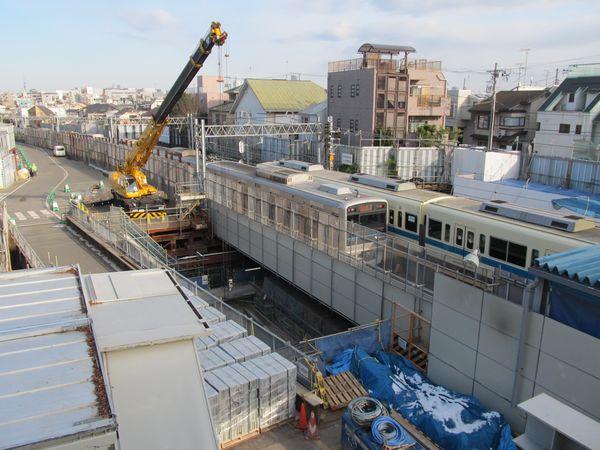 世田谷代田駅北側にあるシールドトンネル用立坑