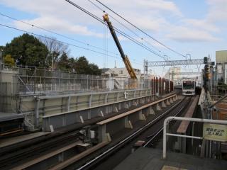 世田谷代田駅北側の立坑。