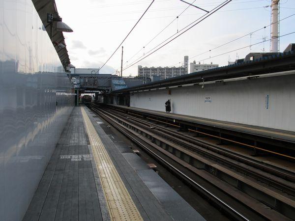 世田谷代田駅ホーム。前回取材時と比べ大きな変化はない。
