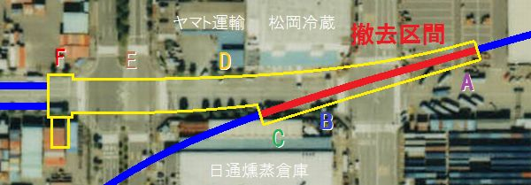 トンネルの撤去範囲と品川埠頭トンネルの位置