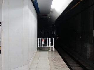 延長工事中のみなとみらい駅元町・中華街方。