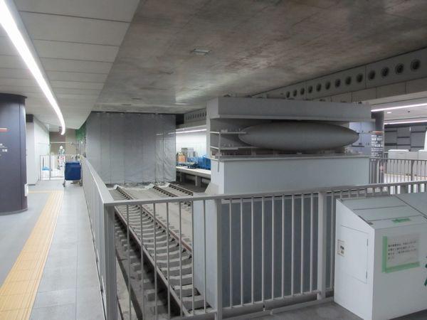 ついに東横線側の間仕切り撤去が始まった副都心線渋谷駅。(2011年6月20日撮影)