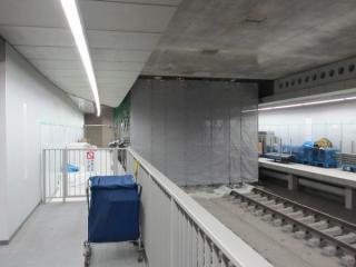 間仕切りの撤去が開始された副都心線渋谷駅の終端側