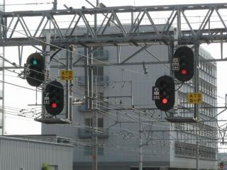 尼崎駅出発信号機のATS切替確認指示