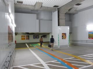 改札内の地下道を再利用した暫定自由通路
