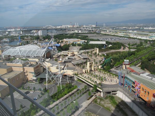 宿泊した「ホテル京阪ユニバーサルタワー」からの眺め