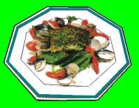 真鯛の香草焼きハマグリのスープ
