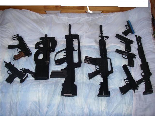 家にある銃