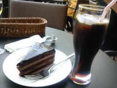 チョコケーキとアイスコーヒー