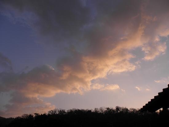 朝焼けの今日の空