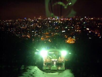駅越しの夜景