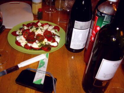 チーズにワイン