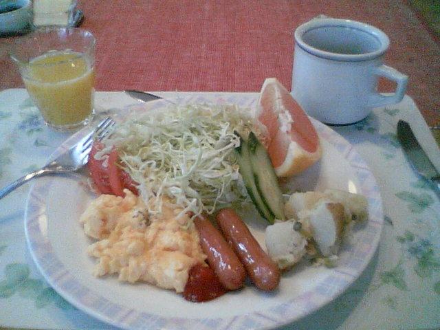 テンガロンの朝ごはん