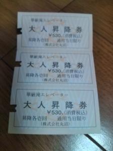 .華厳の滝チケット