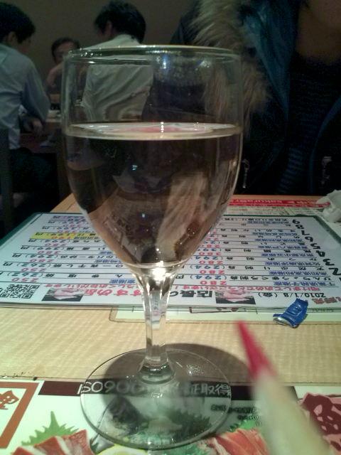 グラスにそそいで
