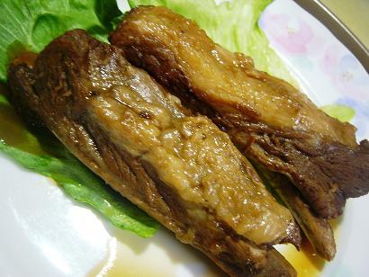 リブ黒酢煮 (2)小