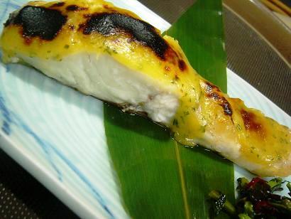 鯛の木の芽味噌焼き (1)小