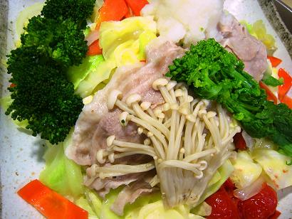 黒豚と春野菜の蒸し合わせ小