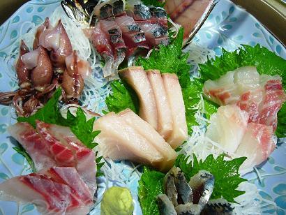 6種盛りイサキホタルイワシぶり鯛アジ小
