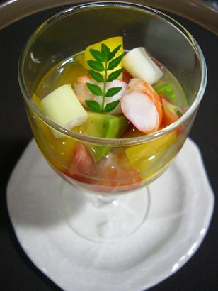 海老と夏野菜カクテル (1)