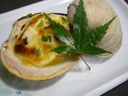 ハマグリ素焼き (1)