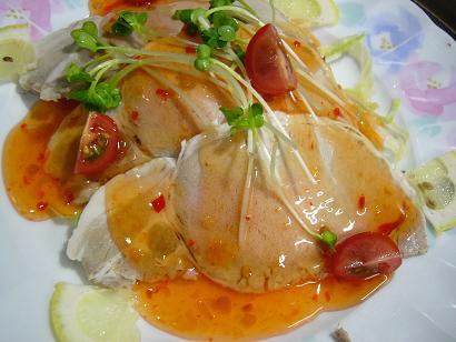 芋豚ロースエスニック風冷菜 (1)