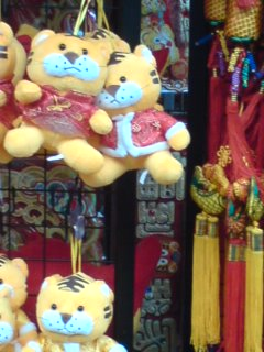 year of tiger, stuffed toy seen at Chinatown in sg
