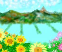 秋の風景描き掛け