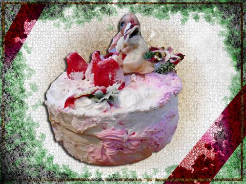 フェイクスイーツのケーキとリアルうさぎパテシエです☆