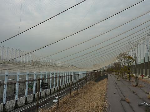長尾のトンネンルの手前のネット