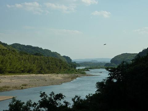 国道163号線からの木津川