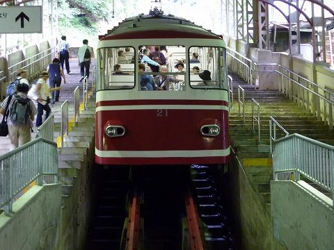 ケーブルカー(極楽橋駅)