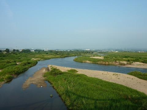 往路_泉大橋からの木津川下流側