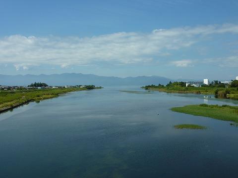 愛知(えち)川と琵琶湖