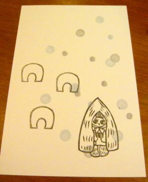 雪ん子ポストカード