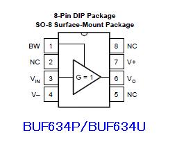 BUF634ピン配置