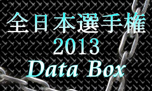 全日本選手権2013データボックス