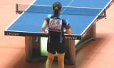 【卓球】 全日本選手権2013 福原VS丹羽(前練習)